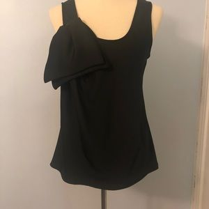 NWOT Tracy Reese Black Bow Tank Size Small